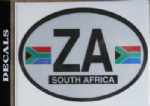 South Africa Country Flag Oval Decal.